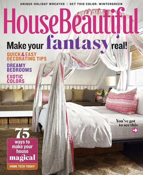 House Beautiful Cover - 12/1/2014