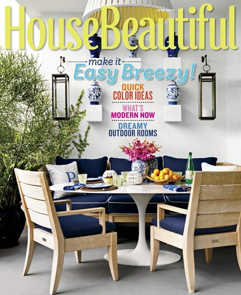 House Beautiful Cover - 6/1/2014