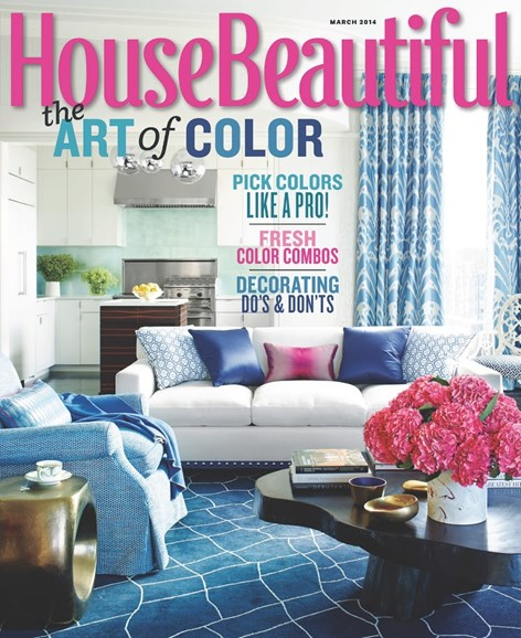 House Beautiful Cover - 3/1/2014