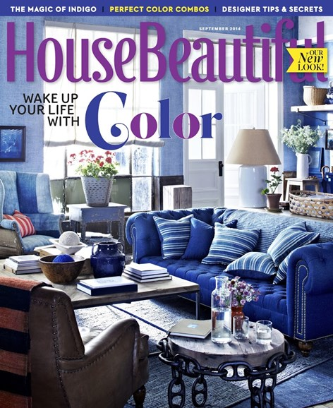 House Beautiful Cover - 9/1/2014