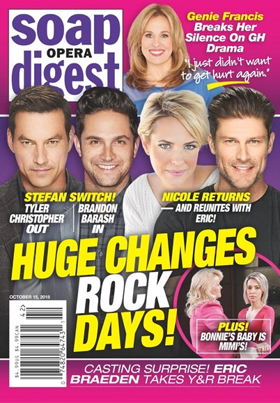 Soap Opera Digest Cover - 10/15/2018