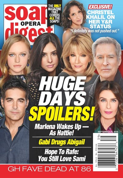 Soap Opera Digest Cover - 9/24/2018