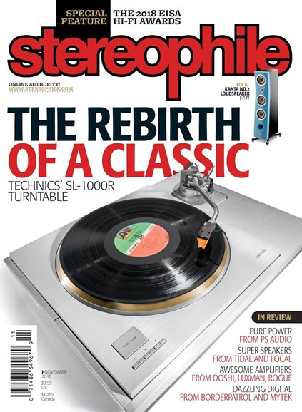 Stereophile Cover - 11/1/2018