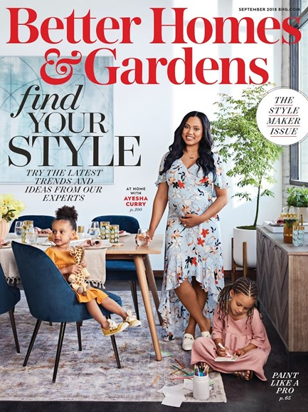 Better Homes & Gardens Cover - 9/1/2018
