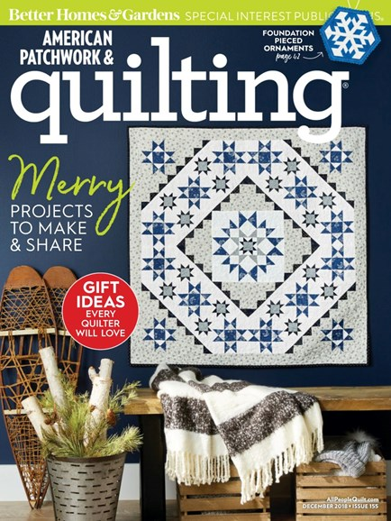 American Patchwork & Quilting Cover - 12/1/2018