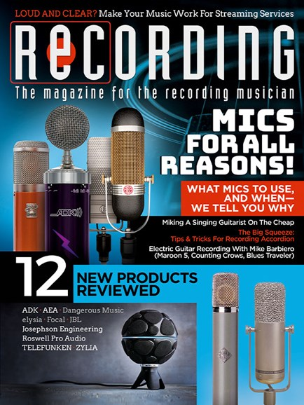 Recording Magazine Cover - 10/1/2018