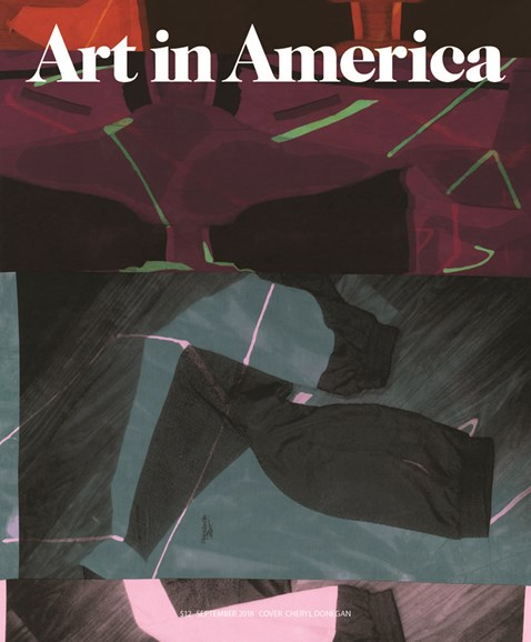 Art In America Cover - 9/1/2018