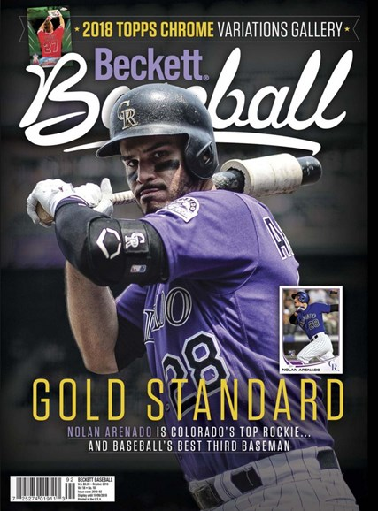 Beckett Baseball Cover - 10/1/2018