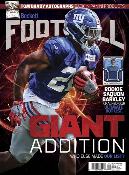 Beckett Football Cover - 10/1/2018