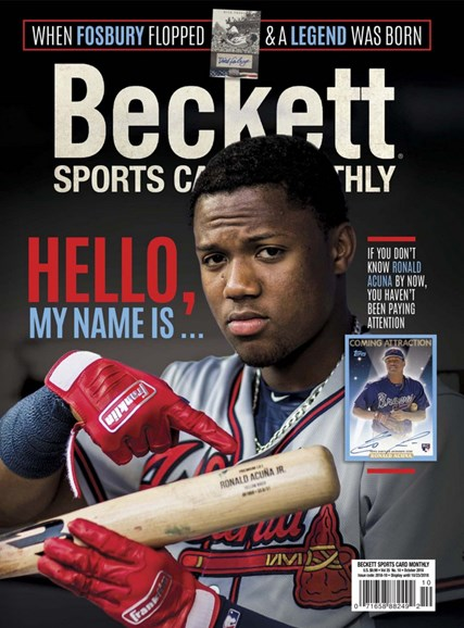 Beckett Sports Card Monthly Cover - 10/1/2018
