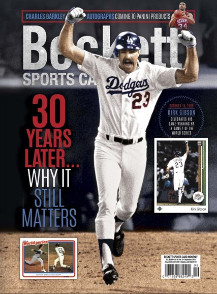 Beckett Sports Card Monthly Cover - 9/1/2018