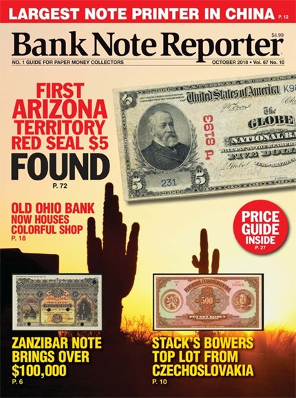Bank Note Reporter Cover - 10/1/2018