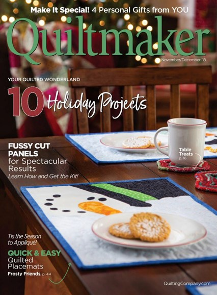 Quiltmaker Cover - 11/1/2018