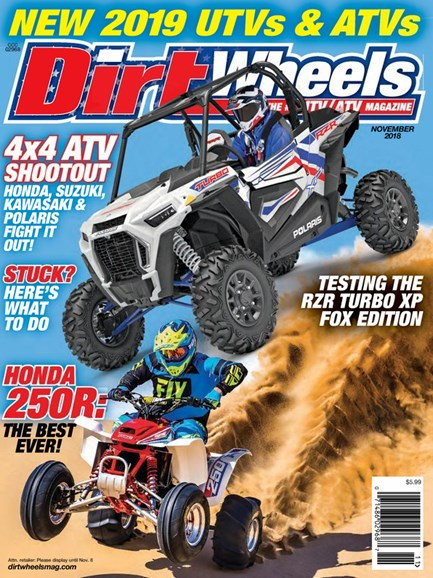 Dirt Wheels Cover - 11/1/2018