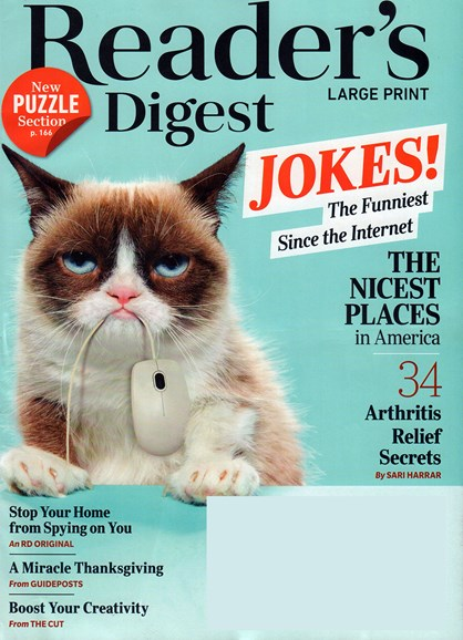 Reader's Digest - Large Print Edition Cover - 11/1/2018