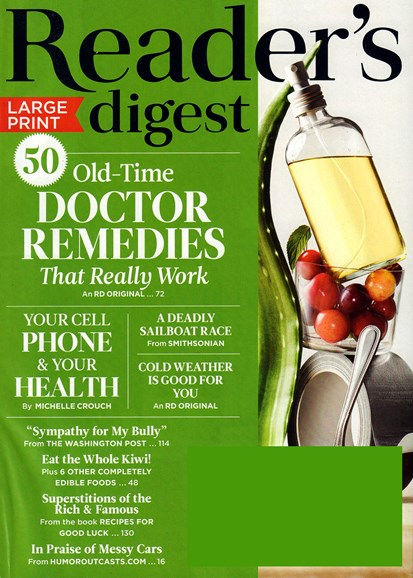 Reader's Digest - Large Print Edition Cover - 10/1/2018