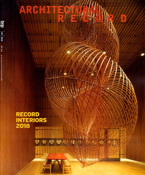 Architectural Record Cover - 9/1/2018