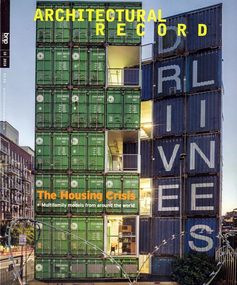 Architectural Record Cover - 10/1/2018