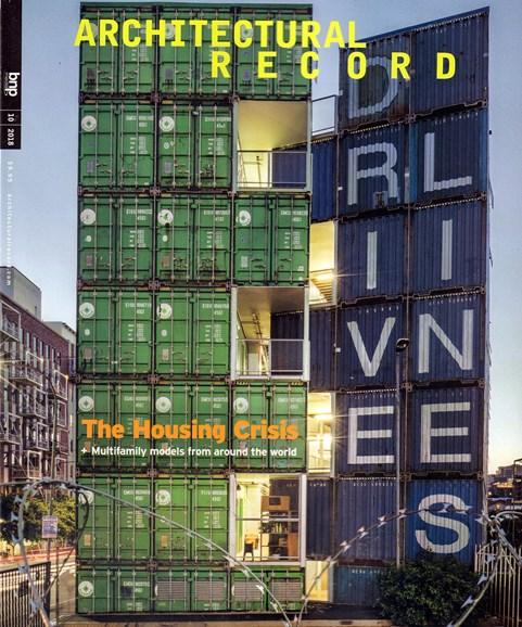 Architectural Record Cover - 10/1/2018