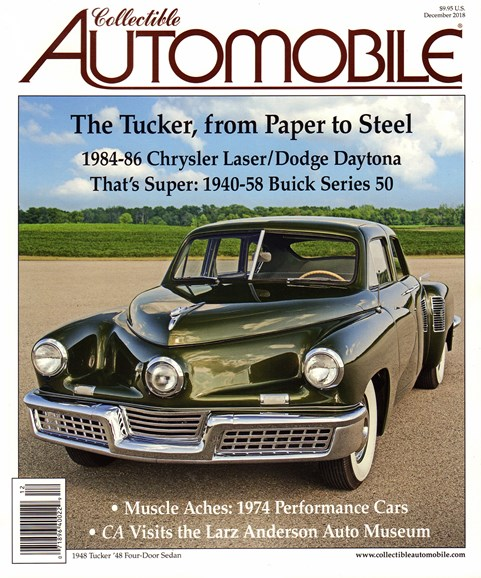Collectible Automobile Cover - 12/1/2018