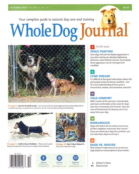 Whole Dog Journal Cover - 10/1/2018