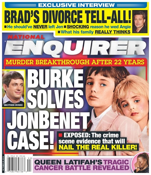National Enquirer Cover - 10/29/2018