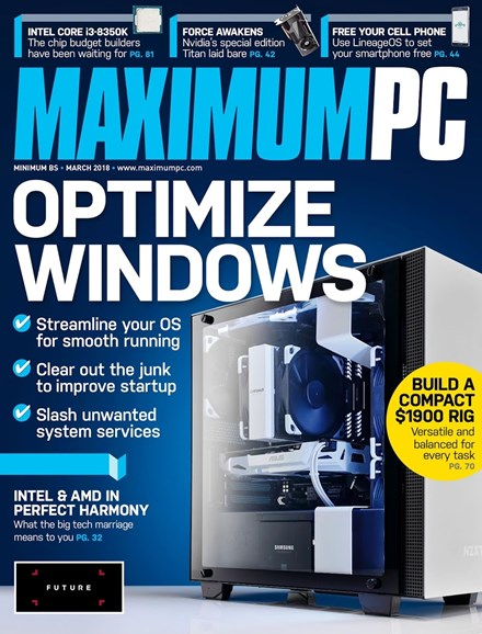 Maximum PC Cover - 3/1/2018