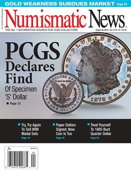 Numismatic News Cover - 8/28/2018