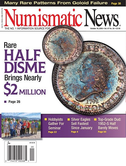 Numismatic News Cover - 10/16/2018