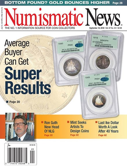 Numismatic News Cover - 9/18/2018