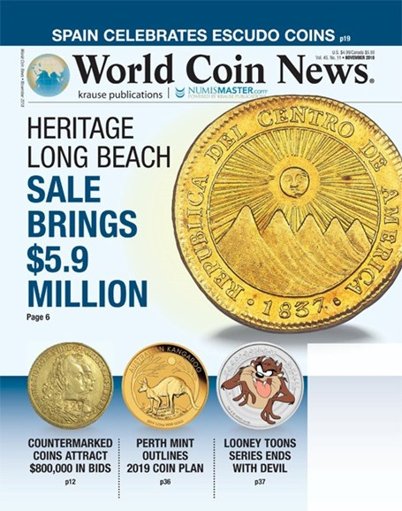 World Coin News Cover - 11/1/2018