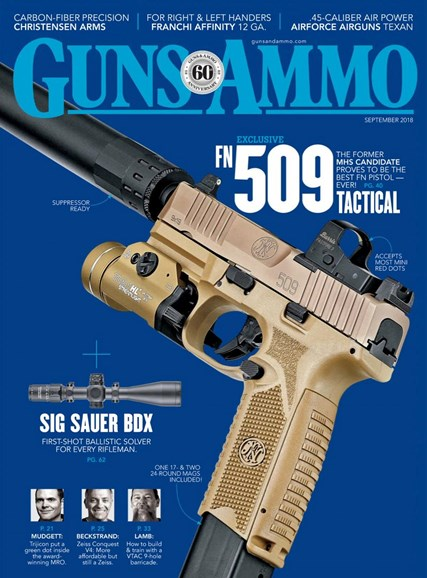 Guns & Ammo Cover - 9/1/2018