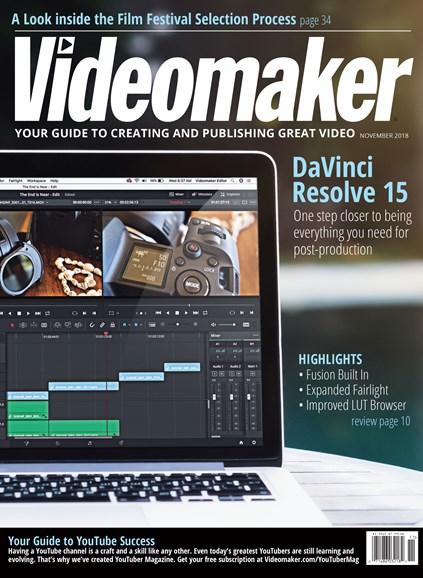 Videomaker Cover - 11/1/2018