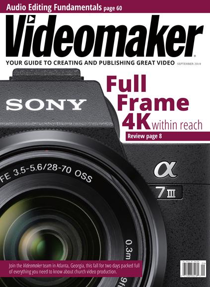 Videomaker Cover - 9/1/2018