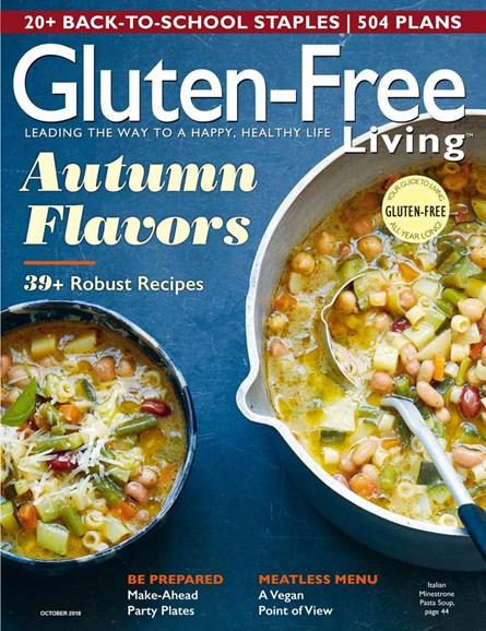 Gluten-Free Living Cover - 9/1/2018