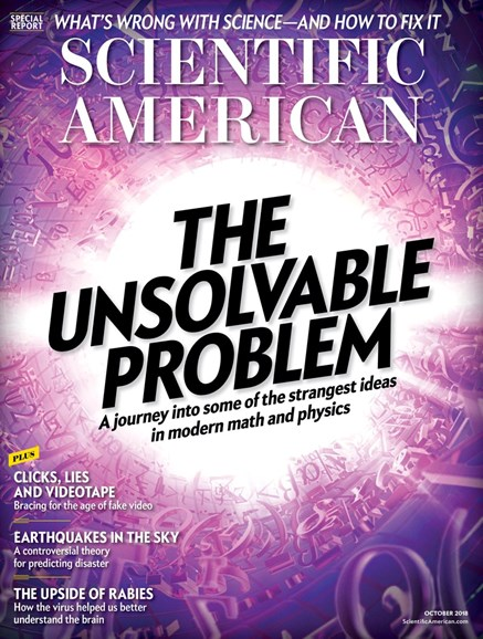 Scientific American Cover - 10/1/2018
