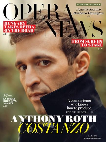 Opera News Cover - 10/1/2018