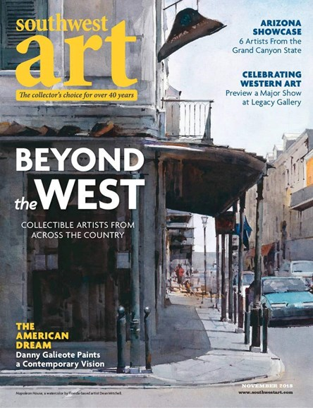 Southwest Art Cover - 11/1/2018