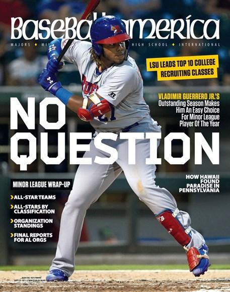 Baseball America Cover - 9/21/2018