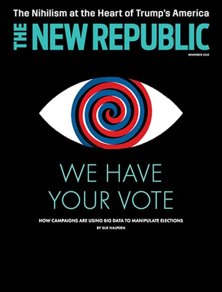 The New Republic Cover - 11/1/2018