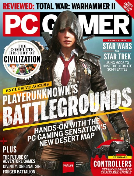 PC Gamer (US Edition) Cover - 12/25/2017