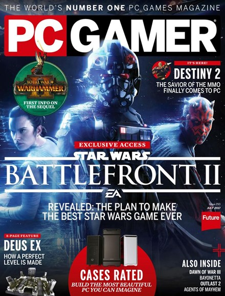 PC Gamer (US Edition) Cover - 7/1/2017