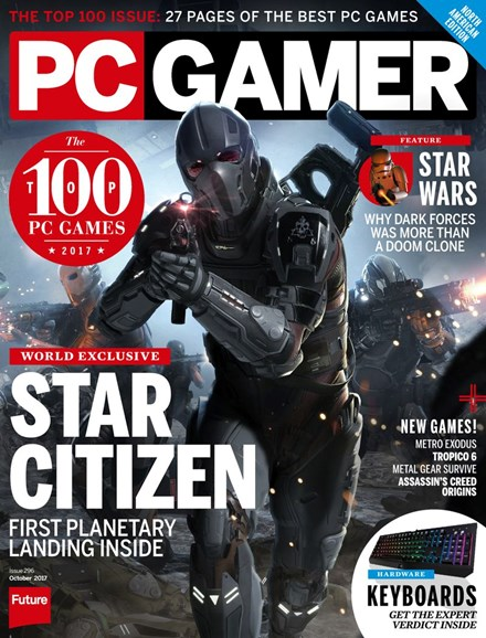 PC Gamer (US Edition) Cover - 10/1/2017