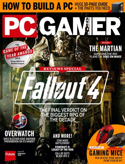 PC Gamer (US Edition) Cover - 2/1/2016