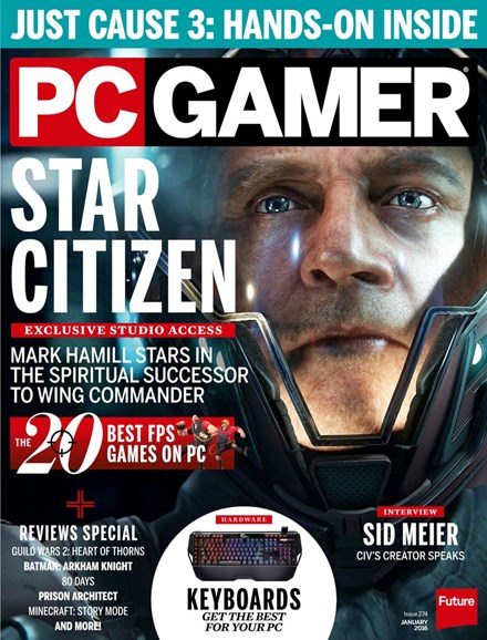 PC Gamer (US Edition) Cover - 1/1/2016