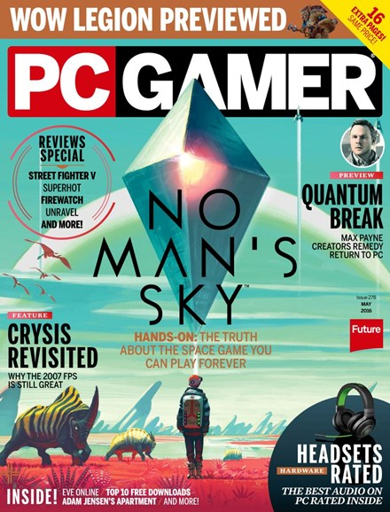PC Gamer (US Edition) Cover - 5/1/2016