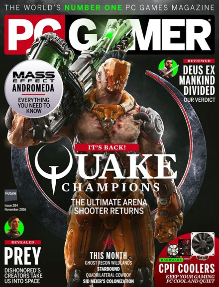 PC Gamer (US Edition) Cover - 11/1/2016