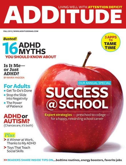 ADDitude Cover - 9/1/2013