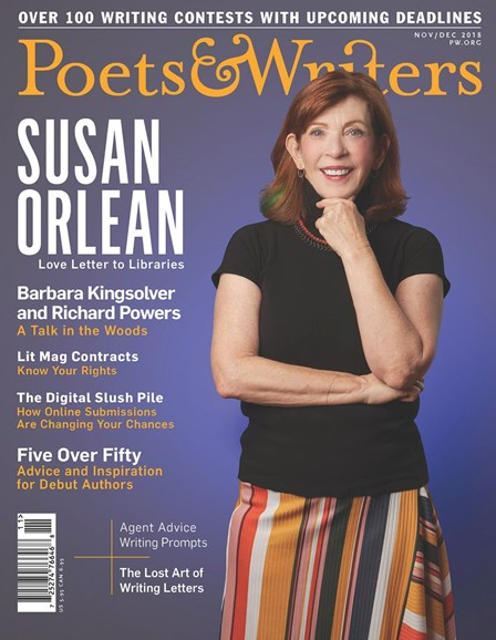 Poets & Writers Cover - 11/1/2018