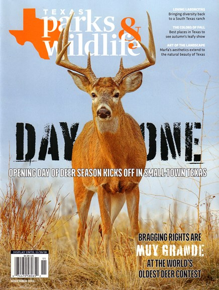 Texas Parks & Wildlife Cover - 11/1/2018